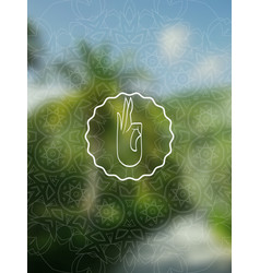 tropical yoga realistic banner with mandala vector image