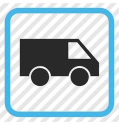 Van icon in a frame vector