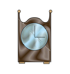 Vintage clock decoration wooden image vector