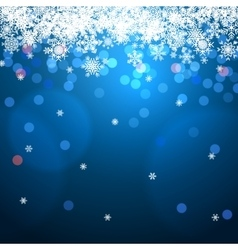 winter background with bokeh and snowflakes vector image vector image
