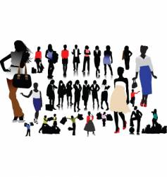 woman silhouettes vector image vector image