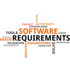 Word cloud - software requirements vector