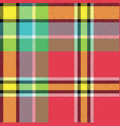 yellow red green blue check fabric texture vector image