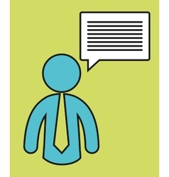 Pictogram necktie communication bubble message vector