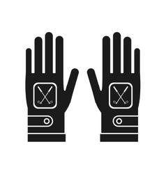 Gloves of golf sport design vector