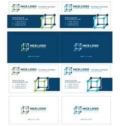 cube business card 2 vector image