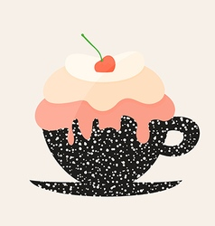 Dessert in a cup vector