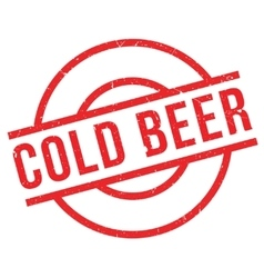 Cold Beer rubber stamp vector image