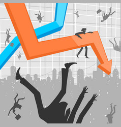 People and economic crisis vector