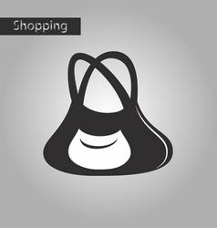 black and white style icon ladies handbag vector image