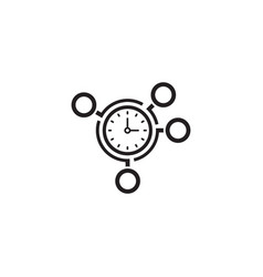 time management icon business concept vector image