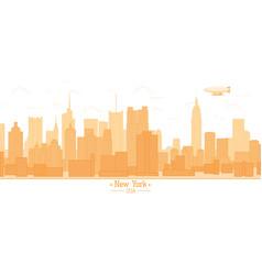 New york city banner panorama buildings landmarks vector