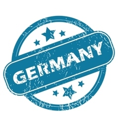 Germany round stamp vector