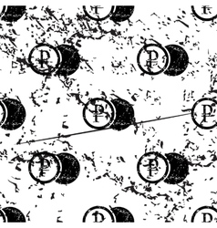 Rouble coin pattern grunge monochrome vector