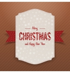 Christmas realistic big white banner template vector