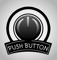 Power push button icon vector