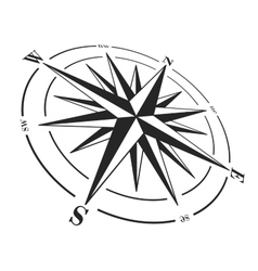 Compass rose isolated on white vector image