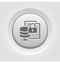 Secure file storage icon flat design vector