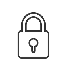 Padlock icon security design graphic vector