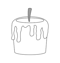Single candle icon vector