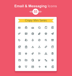 Line email and messaging app tiny icon set vector