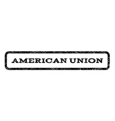 american union watermark stamp vector image