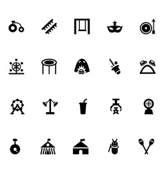 Amusement park icons 3 vector
