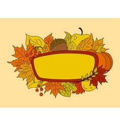 Autumn symbols design element vector