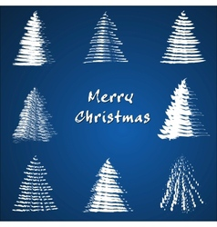 Christmas tree collection vector image vector image