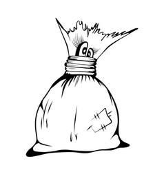 comic cartoon character cute sack sketch vector image vector image