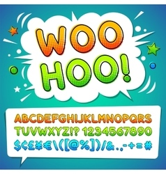 Comic Colorful Font vector image vector image