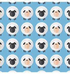 Cute Blue Sheep Wallpaper vector image vector image