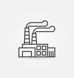 factory outline icon vector image vector image