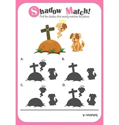 Game template for shadow matching dogs vector image vector image