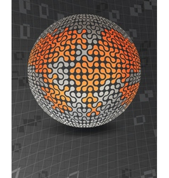 global network concept poster design template vector image