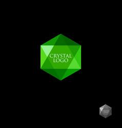 green crystal logo vector image