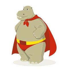 Hippo superhero vector