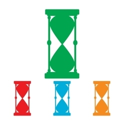 Hourglass sign Colorfull set vector image vector image