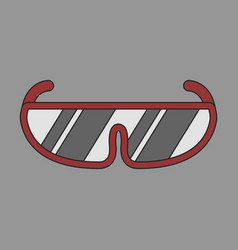 Icon in flat design ski goggles vector