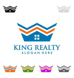 King estate Real estate logo design vector image