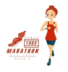 Marathon Running Woman Cartoon vector image vector image