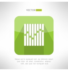 Musical equalizer icon in modern flat design vector image