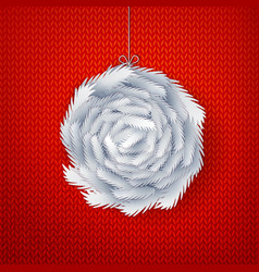 paper cut ball made from branches vector image