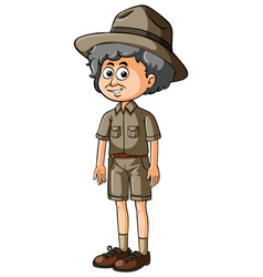Parkranger with smile on the face vector