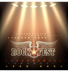 Rock festival poster template vector