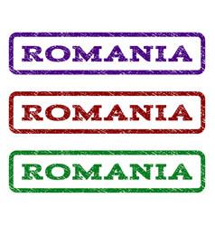 Romania watermark stamp vector