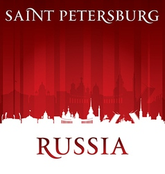 Saint petersburg russia city skyline silhouette vector