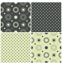 seamless patterns with polka dots and circles vector image