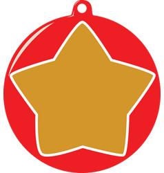 Star bauble vector