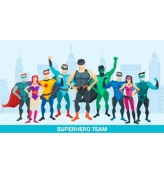 Super hero composition vector